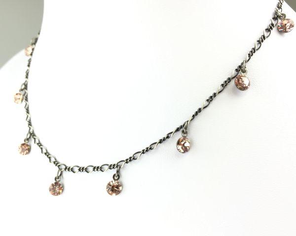 Konplott Tutui vintage rose Halskette steinbesetzt 5450527591645