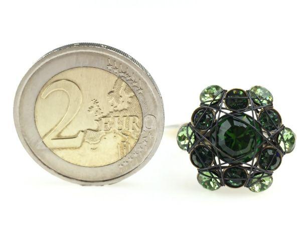 Konplott Bended Lights Ring in Grün 5450527759984
