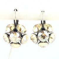 Vorschau: Konplott Disco Balls crystal golden shadow Ohrhänger mit Klappverschluss 5450527640718