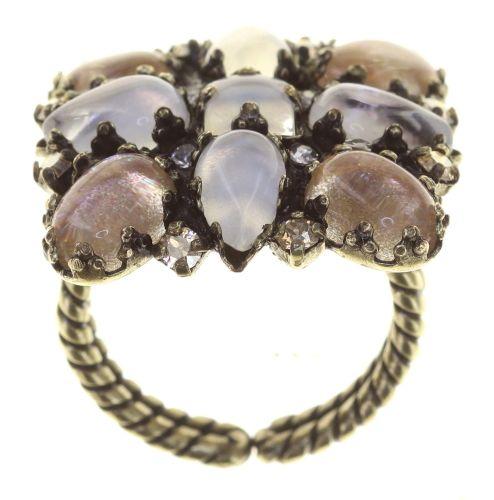 Konplott Mary Queen of Scots Ring Champagne weiß/beige 5450543892214