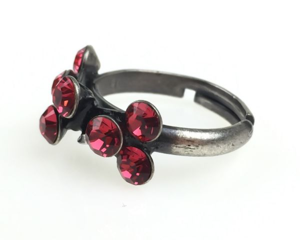 Konplott Magic Fireball 8 Stein Ring in indian pink, rot/pink 5450527767330