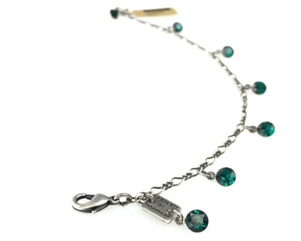 Konplott Tutui emerald Armband verschließbar, dunkelgrün 5450527641180