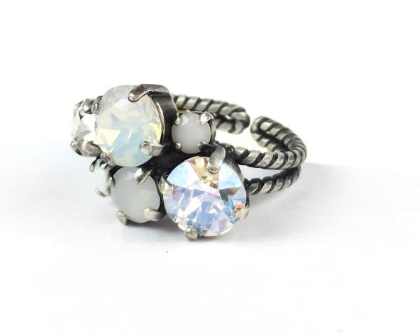 Konplott Ballroom Classic Glam weißer Ring 5450543487557