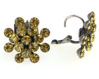 Vorschau: Konplott Magic Fireball Ohrhänger mit Klappverschluss in light topaz, gelb 5450527640626