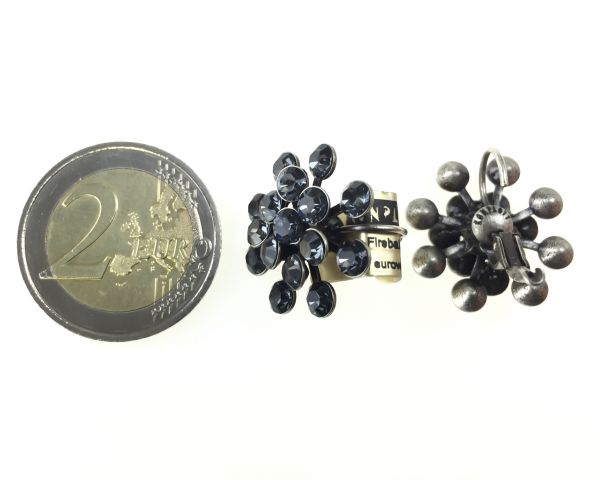 Konplott Magic Fireball Ohrhänger mit Klappverschluss in crystal silver night 5450527767118