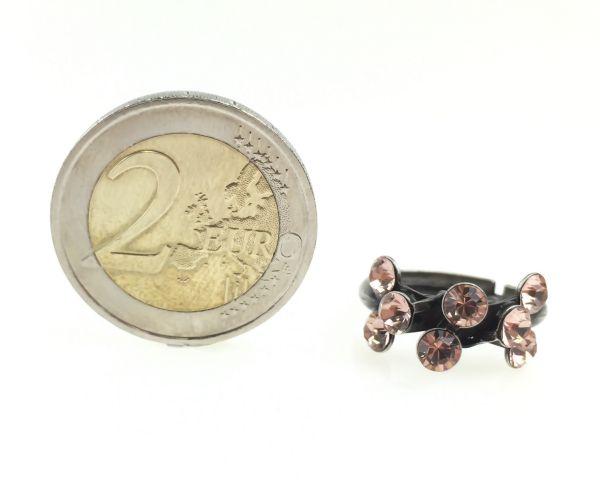 Konplott Magic Fireball 8 Stein Ring in vintage rose 5450527611978