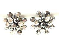 Vorschau: Konplott Magic Fireball Ohrhänger mit Klappverschluss in crystal satin/ crystal silver shade 5450527778350