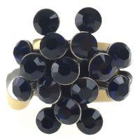 Vorschau: Konplott Magic Fireball 16 Stein Ring in dark indigo, dunkelblau 5450527611800
