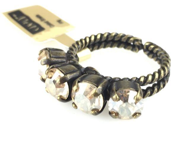 Konplott Colour Snake Ring in Crystal Golden Shadow 5450527610070