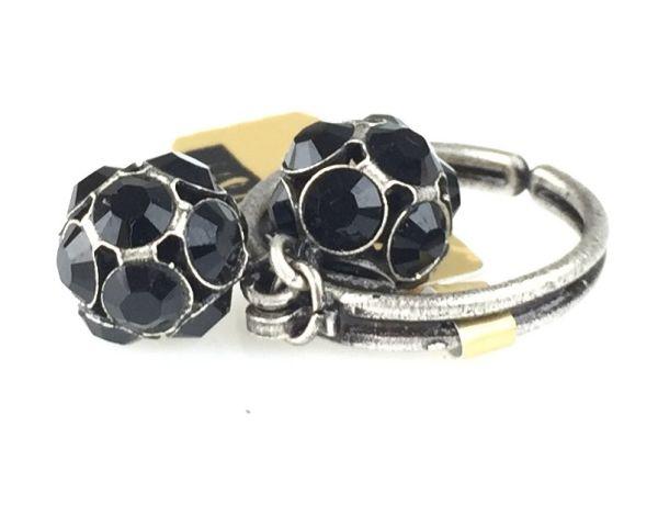 Konplott Disco Balls schwarzer Ring mit 2 Kugeln 5450527598576