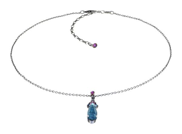 Konplott Abegail Halskette in Toxic Flames blau/grün/dunkelrosa 5450543916071