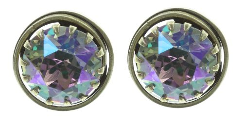 Konplott Boho Twist Ohrstecker in grün/lila crystal paradise shine 5450543772059