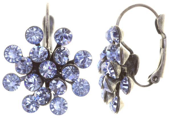 Magic Fireball Ohrhänger mit Klappverschluss in light sapphire, hellblau