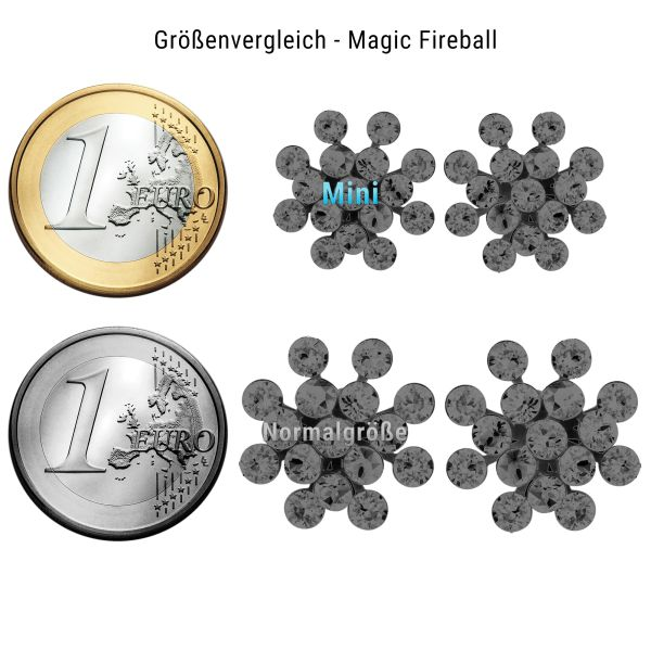 Konplott Magic Fireball Mini Ohrring Ohrstecker Crystalline White 5450543895338