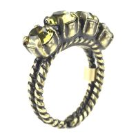 Konplott Colour Snake Ring in Khaki, hellgrün 5450527257060