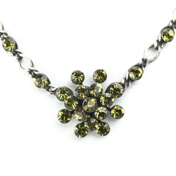 Konplott Magic Fireball Halskette steinbesetzt mit Anhänger in khaki 5450527640275