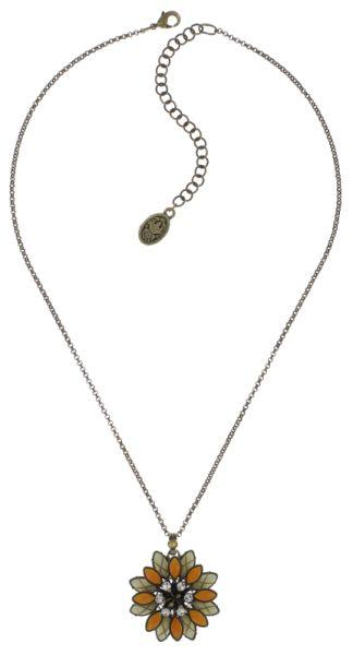Psychodahlia Halskette mit Anhänger in gelb Messing