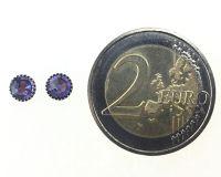 Vorschau: Konplott Black Jack Ohrstecker klassisch rund klein in lila tanzanite 5450527760911
