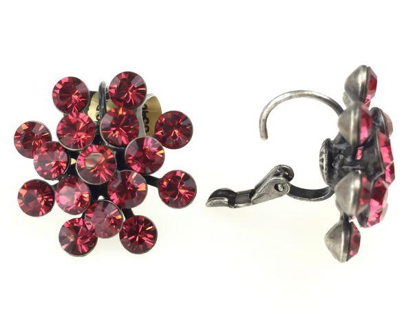 Konplott Magic Fireball Ohrhänger mit Klappverschluss in indian pink, rot/pink 5450527767293