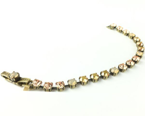 Konplott Colour Snake beige/braunes Armband verschließbar 5450543474724