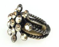 Vorschau: Konplott Magic Fireball 16 Stein Ring in crystal golden shadow 5450527640077