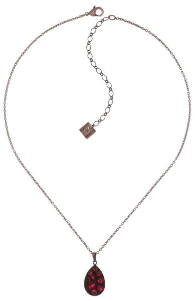 Konplott Tears of Joy Halskette mit Anhänger in coralline scarlet rot Größe M 5450543763576