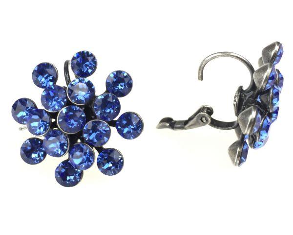 Konplott Magic Fireball Ohrhänger mit Klappverschluss in sapphire 5450527611718