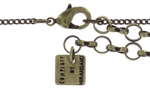 Konplott Inside Out Halskette mit Anhänger Größe S in braun 5450543638522