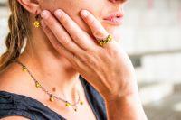 Vorschau: Konplott Tutui light topaz Halskette steinbesetzt, gelb 5450527641357