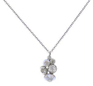 Konplott Petit Glamour Halskette mit Anhänger in weiß 5450543726823