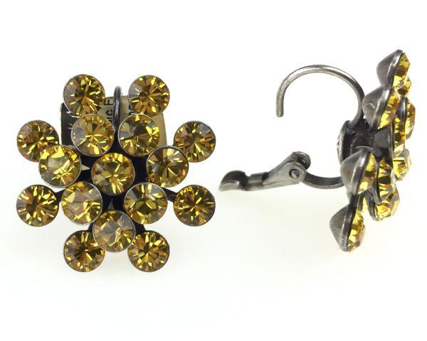 Konplott Magic Fireball Ohrhänger mit Klappverschluss in light topaz, gelb 5450527640626