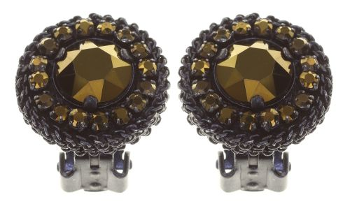 Konplott Rock 'n' Glam Ohrclip in black gun metal 5450543777894