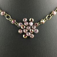Vorschau: Konplott Magic Fireball Halskette steinbesetzt mit Anhänger in lila 5450543218328