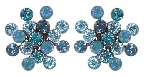Konplott Magic Fireball Ohrstecker in blau/grün Classic Size 5450543904481