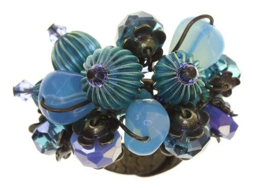 Konplott Tropical Candy Ring in mixed water blues 5450543799674