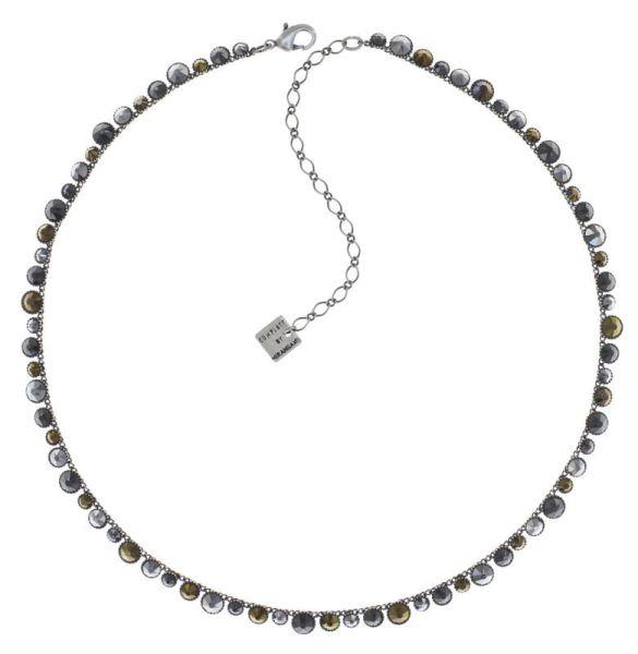 Konplott Water Cascade Halskette Meteor schwarz/braun 5450543814094