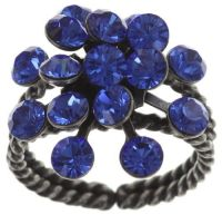 Konplott Magic Fireball 16 Stein Ring in sapphire 5450527611725