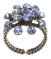 Vorschau: Konplott Magic Fireball 16 Stein Ring in light sapphire, hellblau 5450527612043