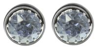 Vorschau: Konplott Boho Twist Ohrstecker in grau crystal blue shade 5450543772110