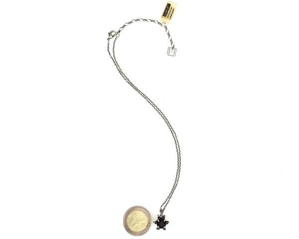 Konplott Petit Four de Fleur jet Halskette mit Anhänger klein, schwarz 5450543322315