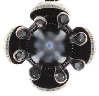 Vorschau: Konplott Petit Fleur de Bloom Halskette mit Anhänger in schwarz carbon bloom 5450543798998