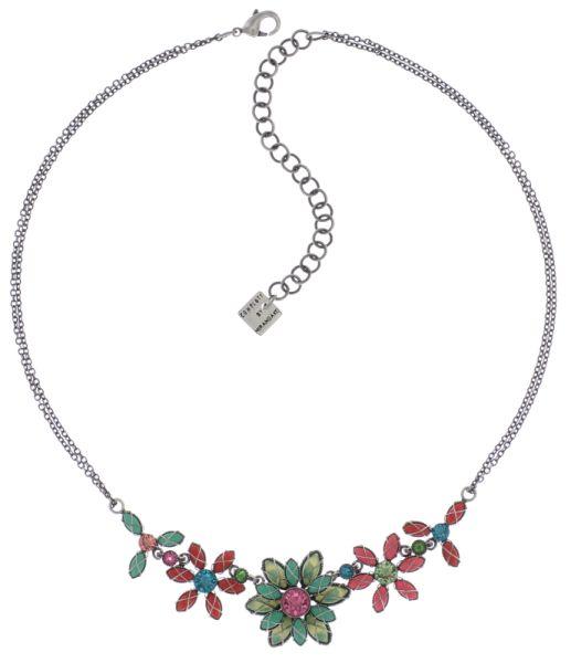 Konplott Psychodahlia Halskette multi Silberfarben 5450543730134