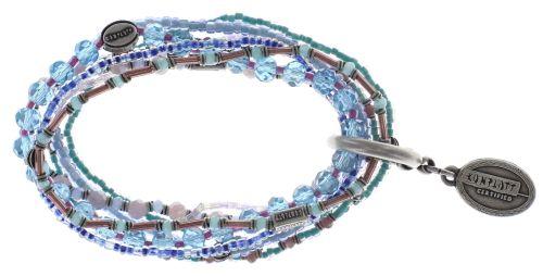 Konplott Petit Glamour d'Afrique Armband in blau/lila 5450543722368