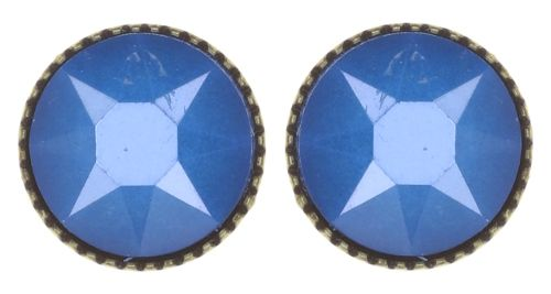 Black Jack Ohrstecker groß in blau crystal electric blue