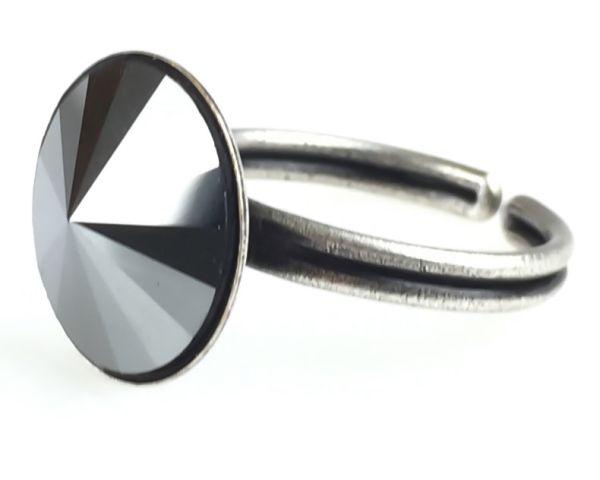 Konplott Rivoli schwarzer Ring 5450527612791