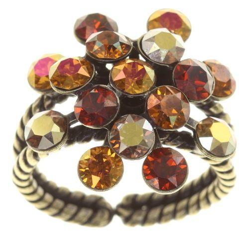 Konplott Magic Fireball Ring Amber Love klassisch in rötlich-braun 5450543813639