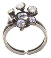 Konplott Alien Caviar Ring Crystal Clear in weiß 5450543895758
