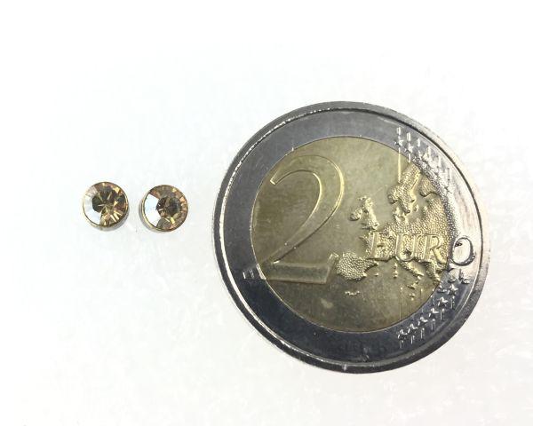 Konplott Black Jack Ohrstecker klein in kristall gold 5450527263573