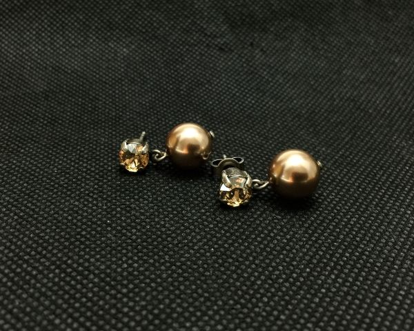 Konplott Pearl Shadow crystal golden shadow Ohrstecker hängend 5450527598798