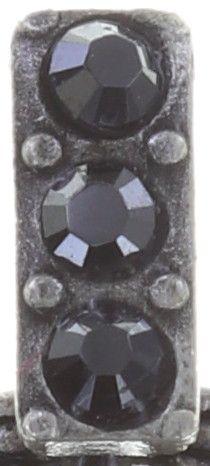 Konplott Rosone Ohrstecker hängend Größe XS in schwarz 5450543654461